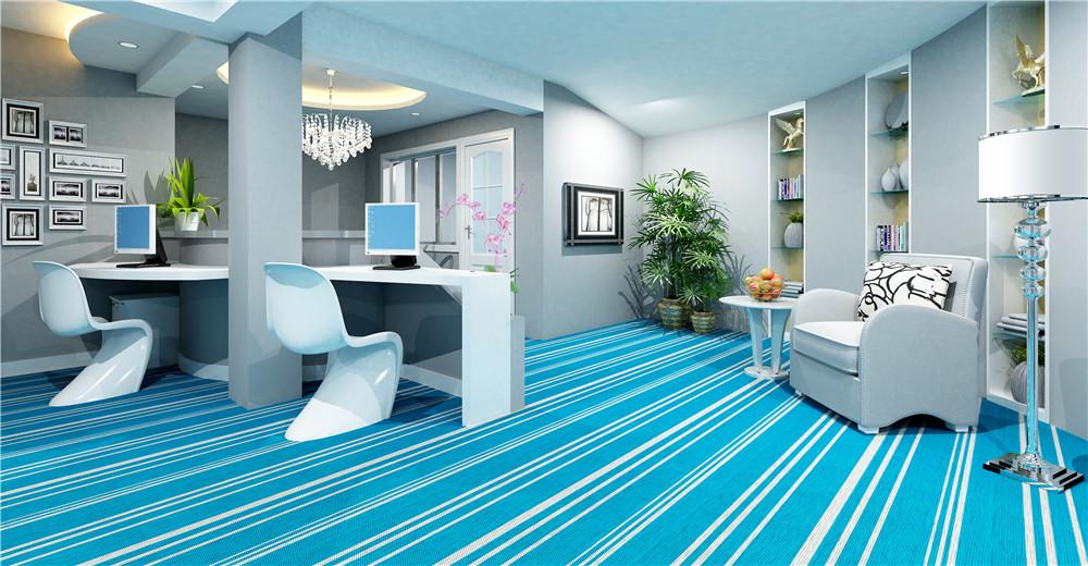 根据不同的场合选择的PVC编织地毯的厚度也有所不同